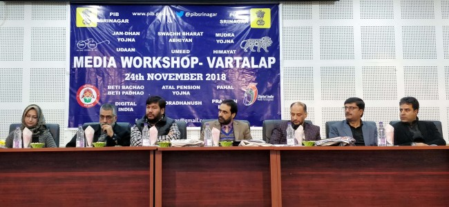 PIB organizes Media Workshop at Srinagar