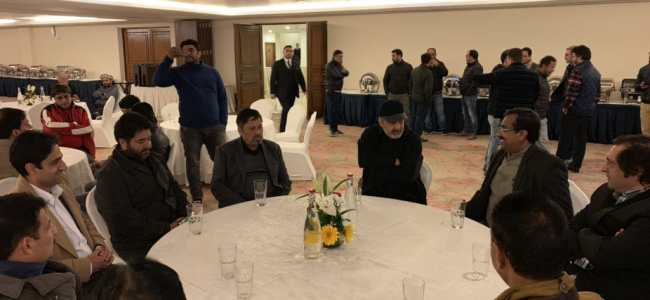 Ram Madhav meets Sajjad Lone, Ansari's
