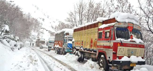 Srinagar-Jammu national highway closed, air-traffic shut