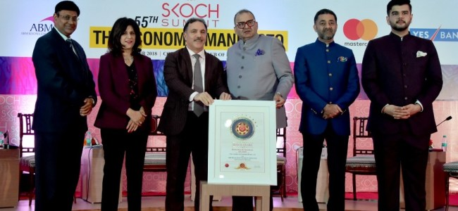 JK Bank conferred the prestigious SKOCH award
