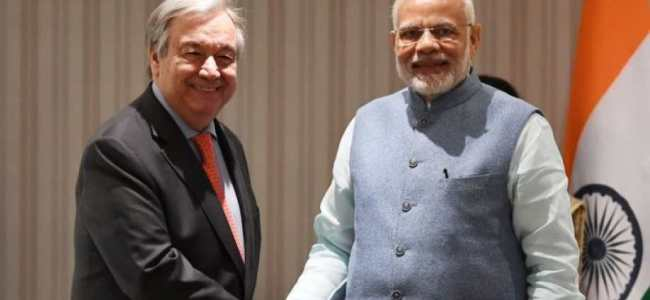 Strong commitment to climate action rooted in the Vedas: Modi tells UN chief