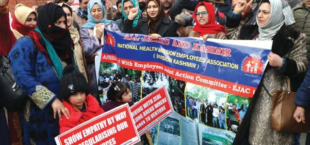 NHM employees start hunger strike, say Govt not willing to listen