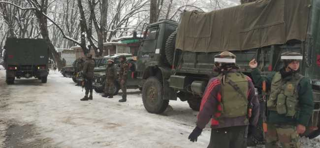 Tral gunfight: Searches on, no dead body recovered
