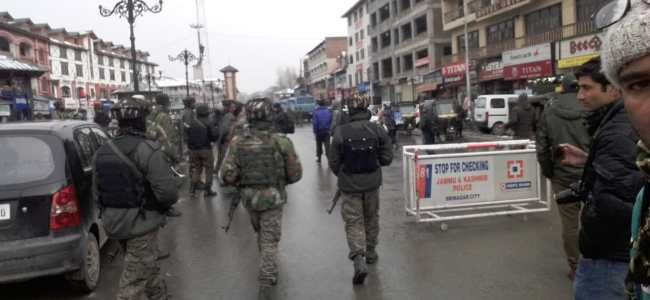 Forces used Drones in Lal Chowk