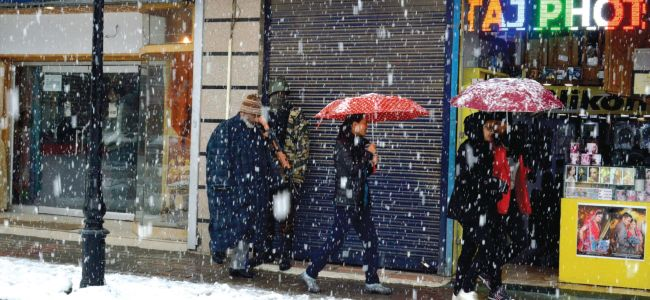 Snowfall to continue till late evening or early tomorrow: MeT