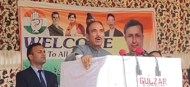 PM Modi, BJP responsible for 'deteriorating' situation in JK: Azad