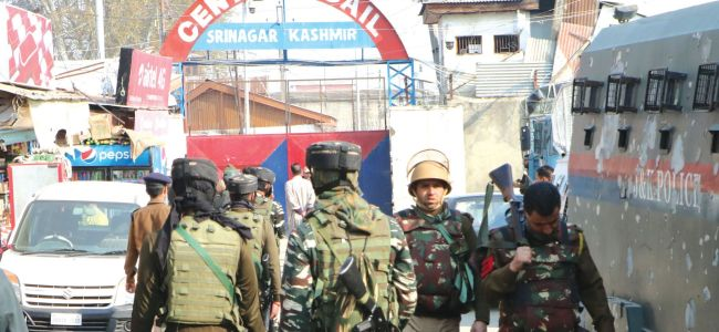 Central jail Srinagar inmates hold day-long hunger strike