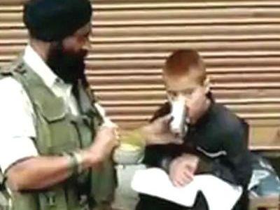 CRPF jawan rewarded for helping a 'distressed' boy