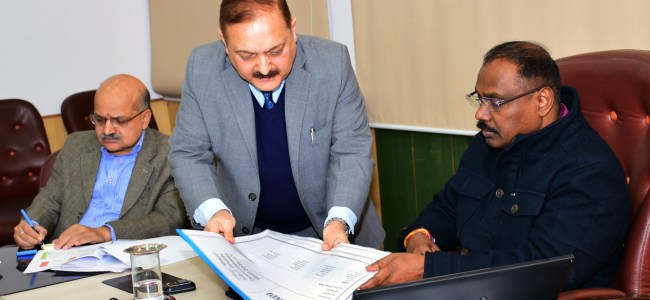 Lt Governor reviewsprogress of the digitization of Land Records in J&K under DILRMP