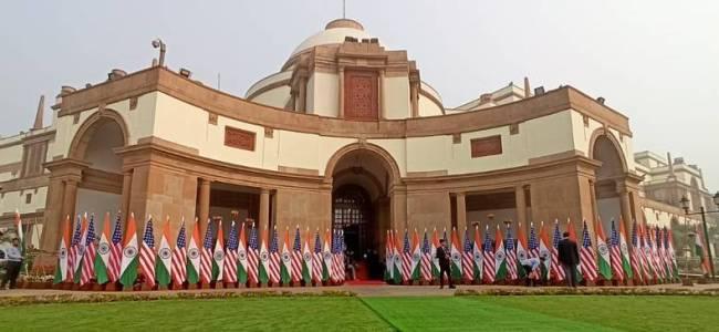 Trump accorded Tri-Services Guard of Honour at Rashtrapati Bhavan