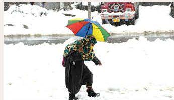 Snowfall blankets Kashmir