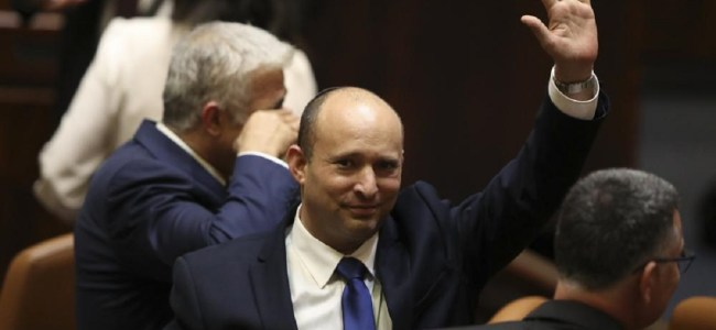 Naftali Bennett sworn in as Israel's new Prime Minister, ending Netanyahu's 12-year rule