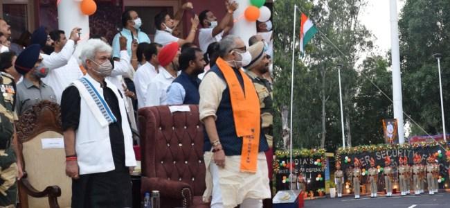 Lt Governor inaugurates Retreat Ceremony at Octroi Post, Suchetgarh