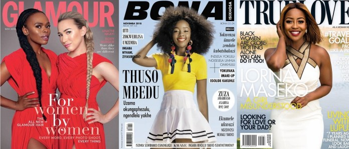 Mzansi celebrities who graced Magazine covers for the month of November