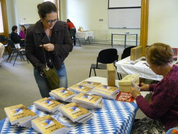 Some lovely person buying our book early on in the day!