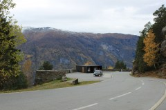 View of the parking area at Stegastein.