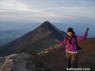 Wschód słońca z wulkanu Acatenango. Udało się.