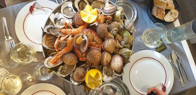 talerz owoców morza w Normandii