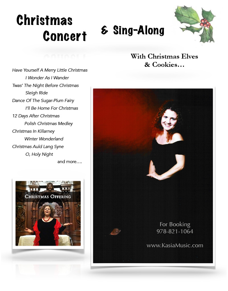 Christmas Concert and Sing-Along Poster