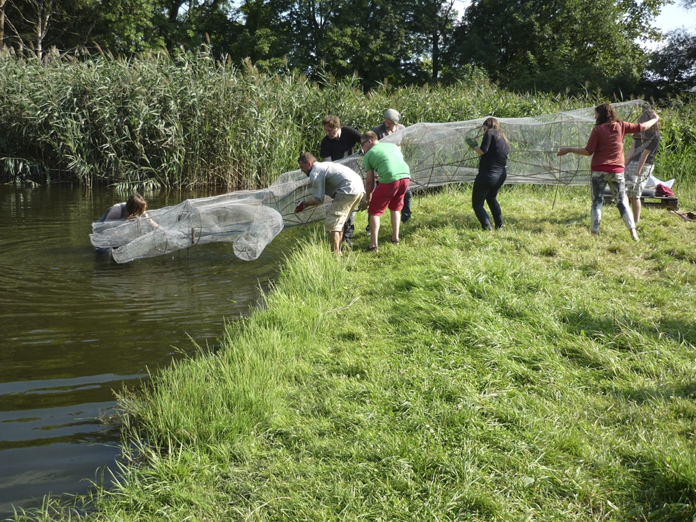 Installation Process, Testing the Waters, 2014, Schloss Trebnitz, Germany.