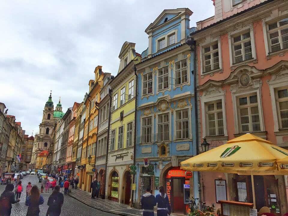 beautiful houses in Prague