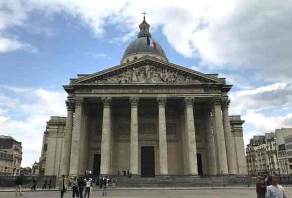 visiting the Pantheon museum Paris
