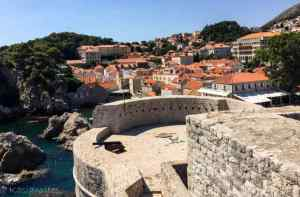 view from the walls of Dubrovnik
