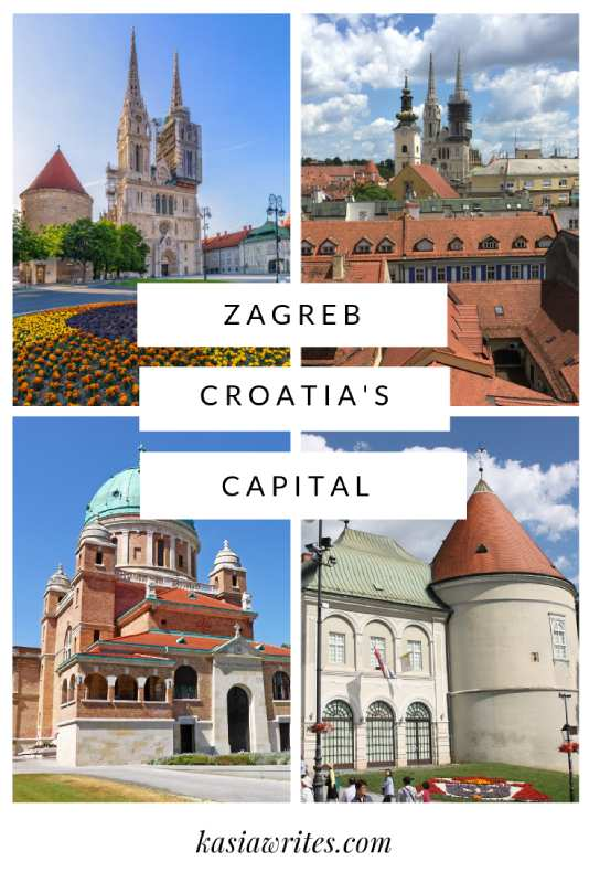 collage of images of Zagreb Croatia's capital