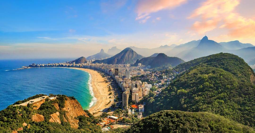 overlooking the Copacabana beach is one of many things to do in Rio de Janeiro Brazil