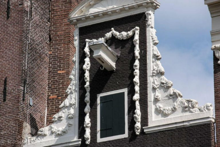 hooks and gables of Amsterdam buildings