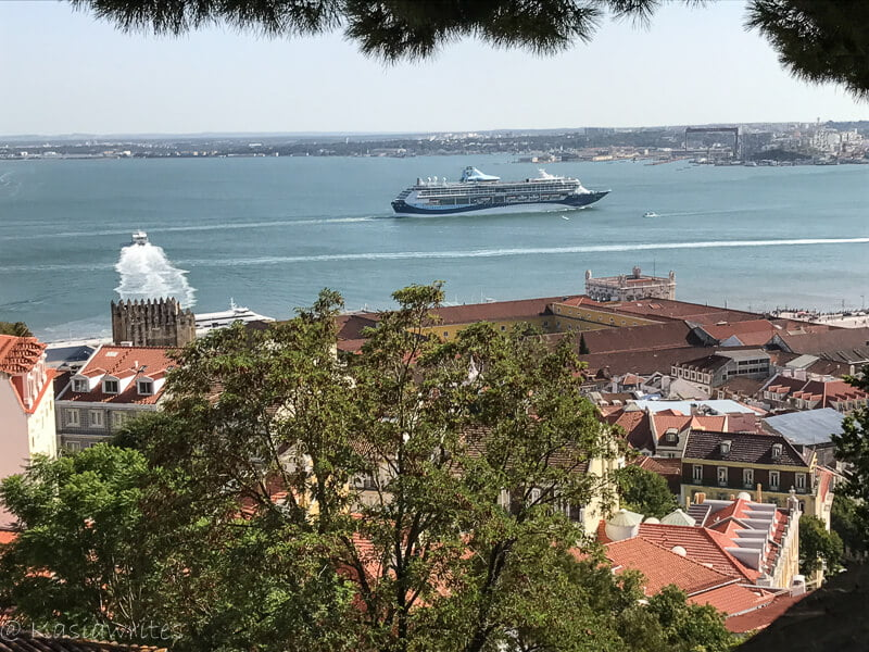 view of the bay of Lisbon