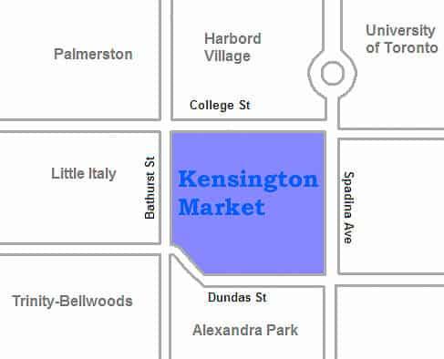 map of Kensington Market