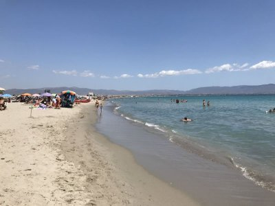 Poetto beach Sardinia