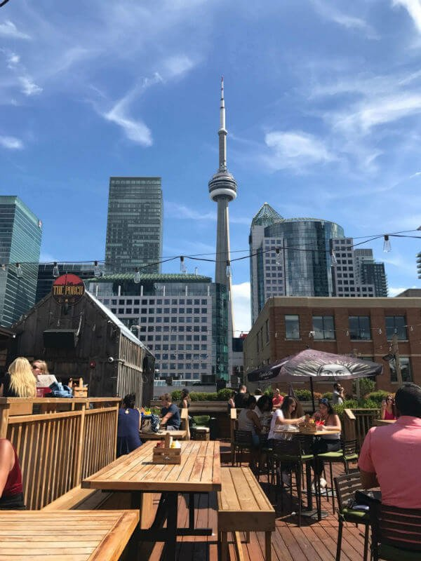 patio view of CN Tower