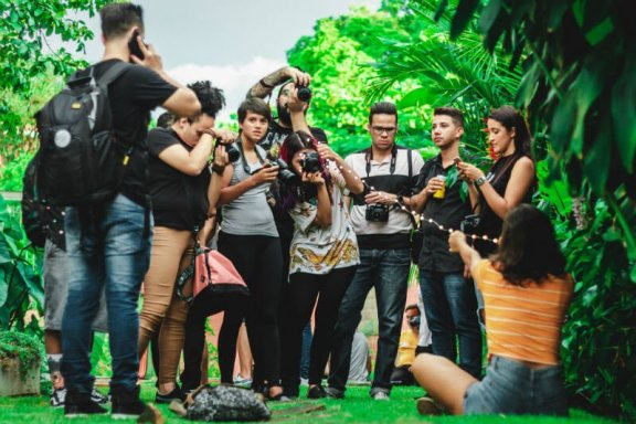 instagram-worthy camera crew doing a photoshoot