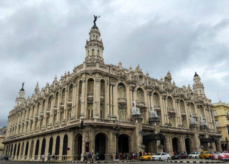 exterior of a theatre in Havana