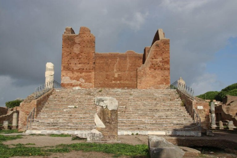steps of a former temple at Ostia Antica