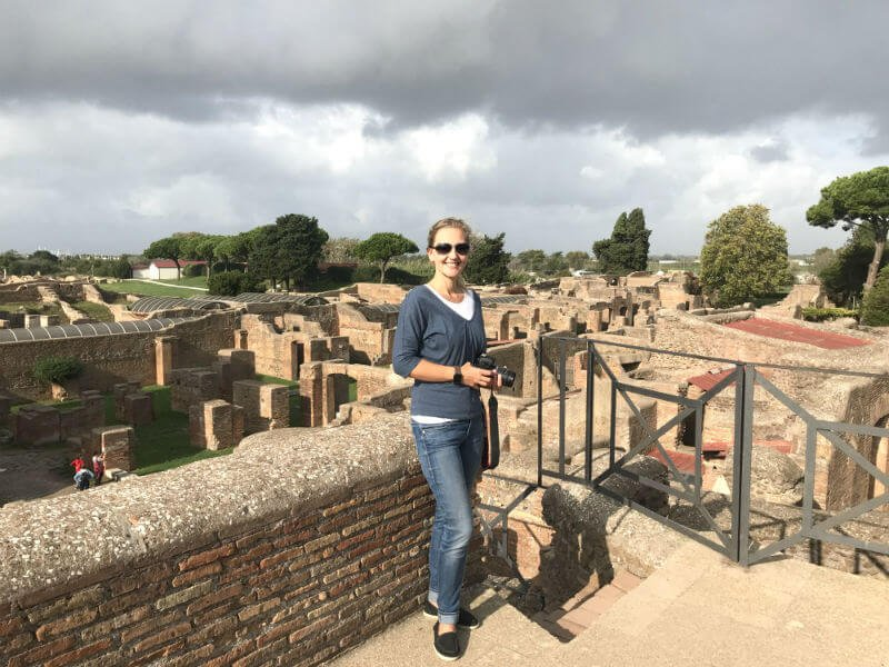 overlooking Ostia Antica from a viewing platform