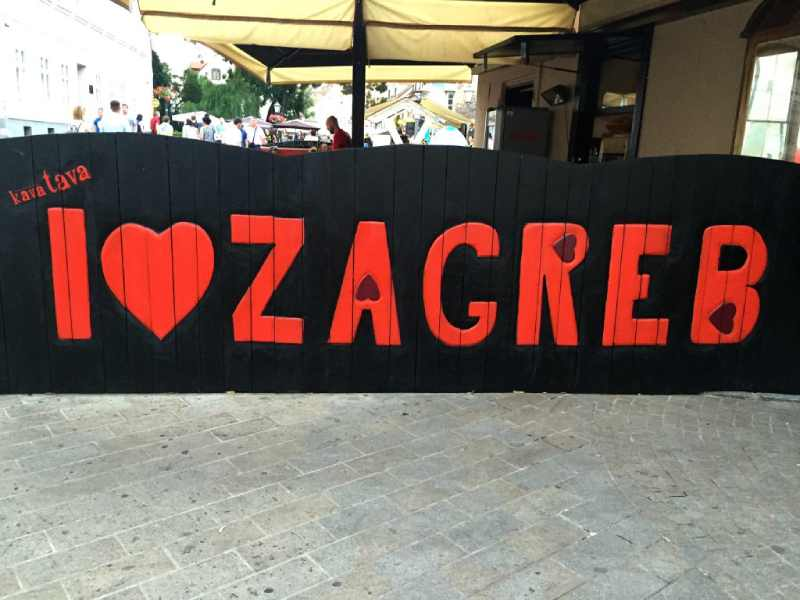 i heart Zagreb sign