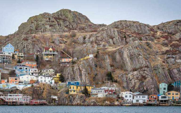 houses on a shore in Newfoundland