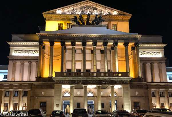 opera house with columns on two levels
