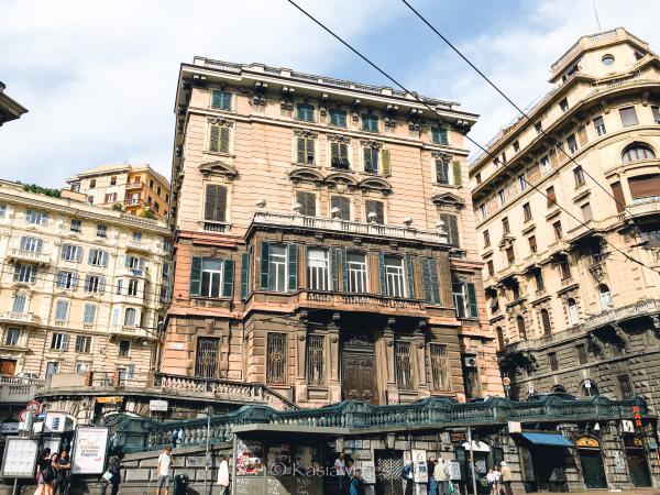 architecture in Genoa Italy