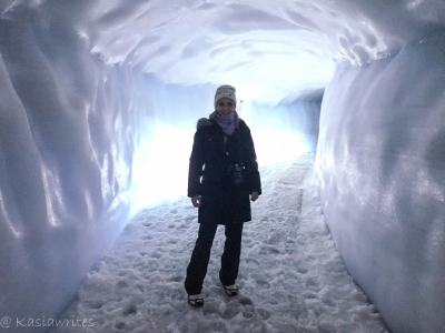 inside ice cave