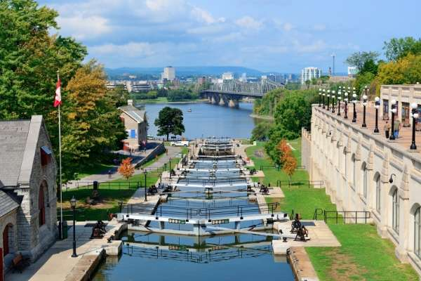 locks on the Rideau Canal in Canada