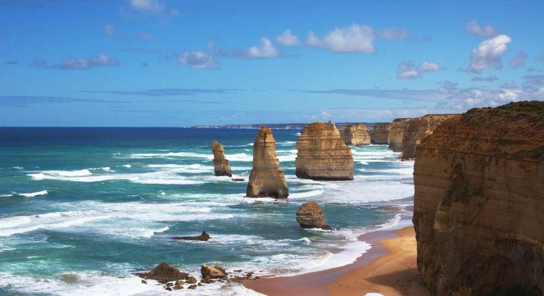 driving along the Great Ocean Road in Australia