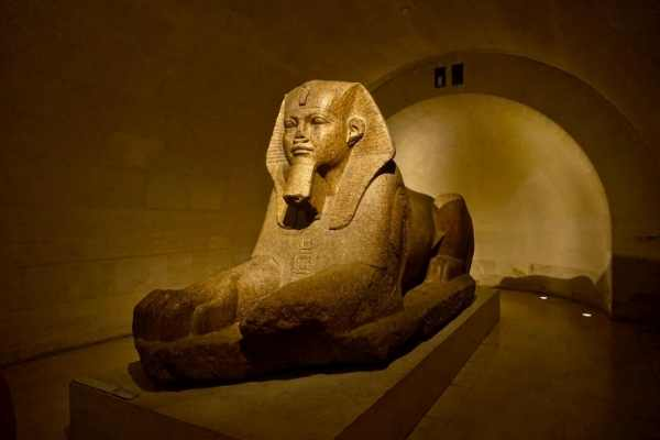 Egyptian statue of a sphynx