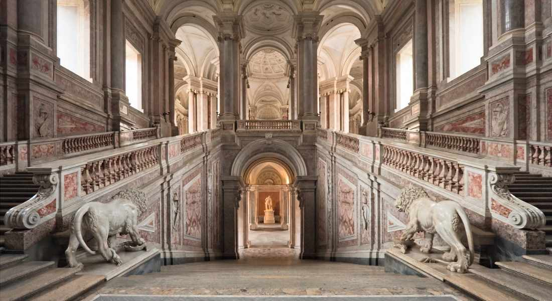 staircase at the Royal Palace of Caserta