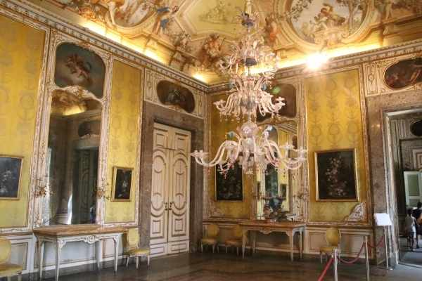 yellow room in Caserta Palace