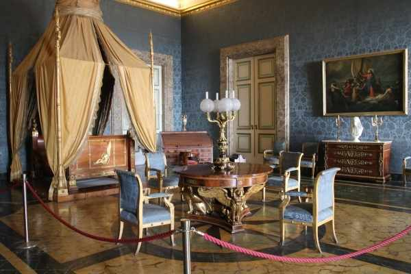 blue room at the Royal Palace of Caserta