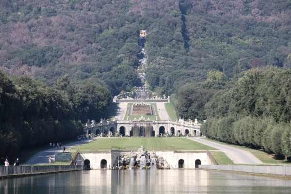 garden view from Caserta Palace